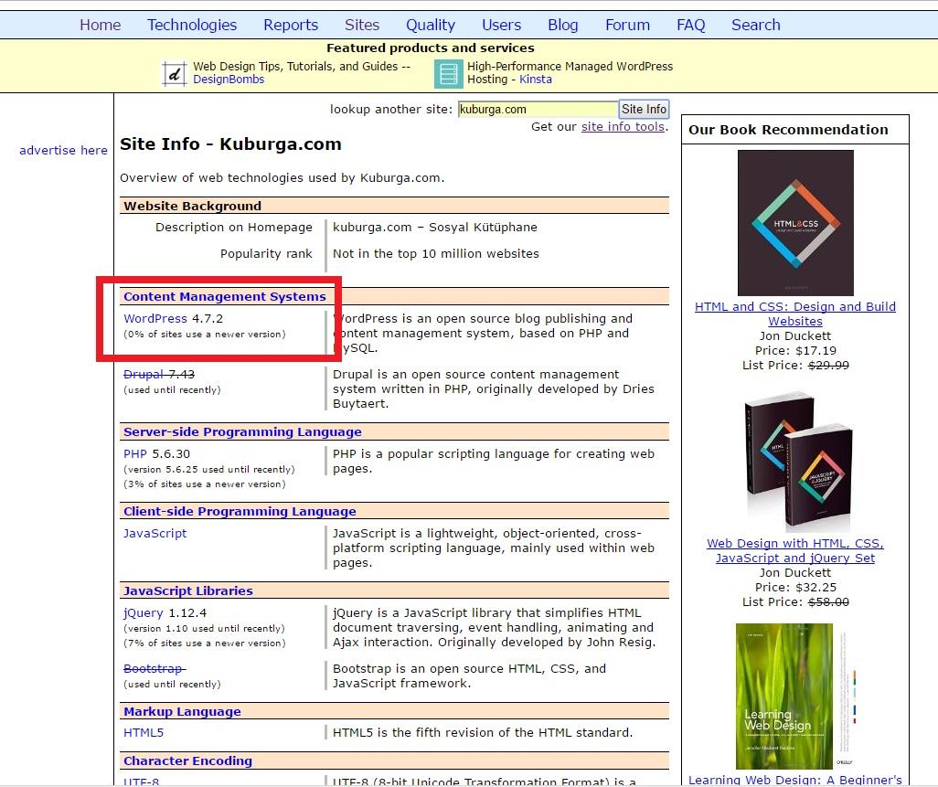 websitesi hangi script kullanıyor